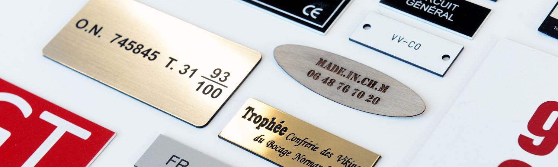 gravure plaque