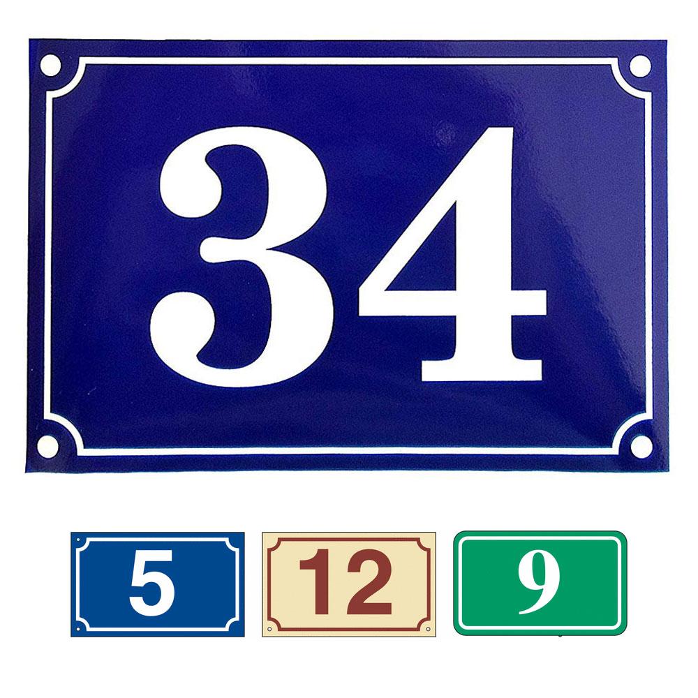 Gravure plaque numéro de rue