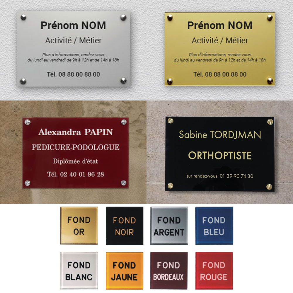 Gravure pour plaques professionnelles