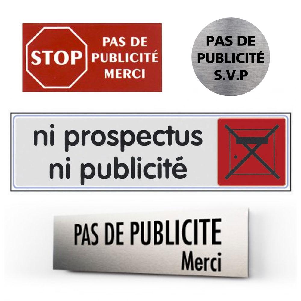 Gravure plaque stop publicité