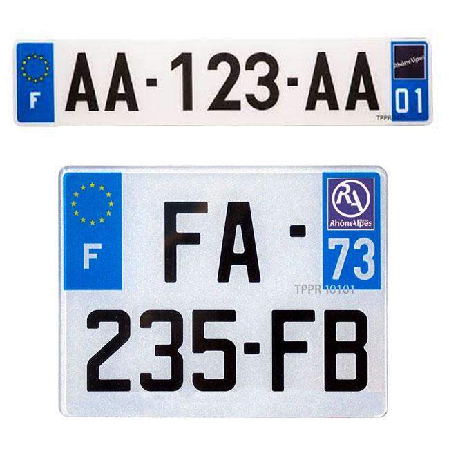 Plaques immatriculation auto et moto